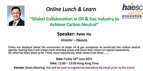 Global Collaboration in Oil & Gas Industry to  Achieve Carbon Neutral tickets