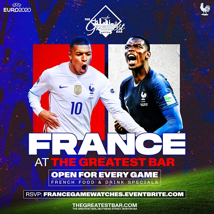 UEFA Euro 2020 France Game Watches at The Greatest Bar! image