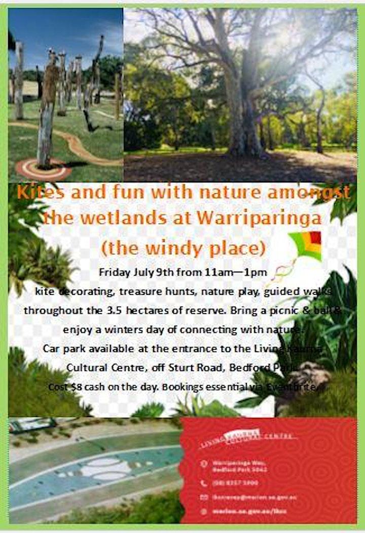 Fun with Kites and Nature amongst the wetlands at Warriparinga image