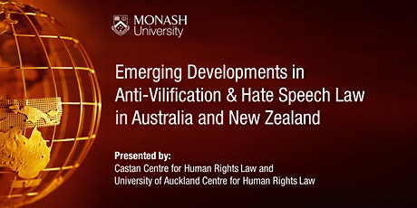 Anti-Vilification & Hate Speech Law  in Australia and New Zealand tickets