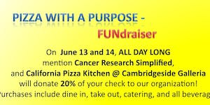 Join our PIZZA WITH A PURPOSE FUNdraiser - Cancer...