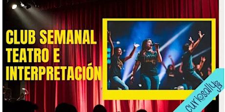 Teatro e Interpretación  Junio en Zoom - Edades de 6-11 años. 4x Domingos ingressos