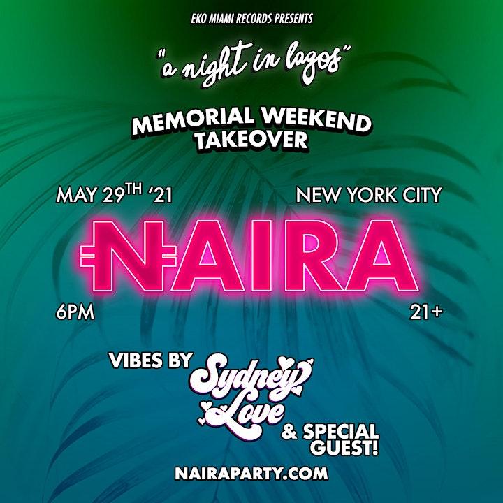 NAIRA x LAGOS NYC TAKEOVER image