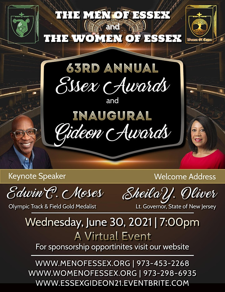 63rd ANNUAL ESSEX AWARDS  AND INAUGURAL GIDEON AWARDS image