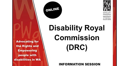 PWdWA's Disability Royal Commission Online Information Session tickets