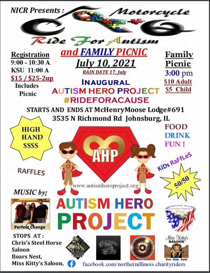 NICR RIDE FOR A CAUSE AND FAMILY PICNIC BENEFITING THE AUTISM HERO PROJECT image