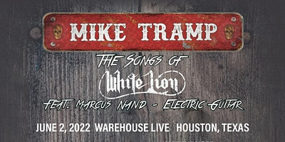 """MIKE TRAMP """"THE SONGS OF WHITE LION"""" feat. MARCUS NAND"""