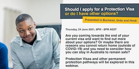 WEBINAR: Should I apply for a Protection Visa or do I have other options? bilhetes