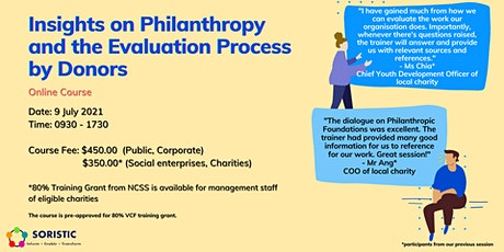 Insights on Philanthropy and the Evaluation Process by Donors tickets