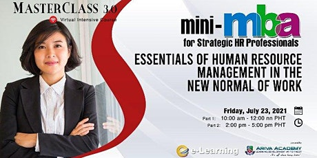 Mini-MBA for Strategic HR Professionals: Essentials of Human Resource Mngmt tickets