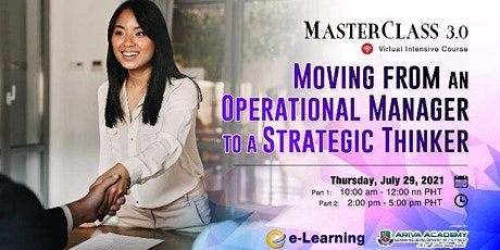 4th Moving from an Operational Manager to a Strategic Thinker tickets