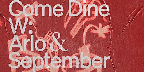 Arlo Communal X September Studios Lunch tickets