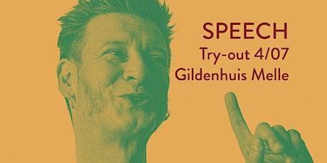 (4/07) Wouter Deprez - Try-out Speech billets
