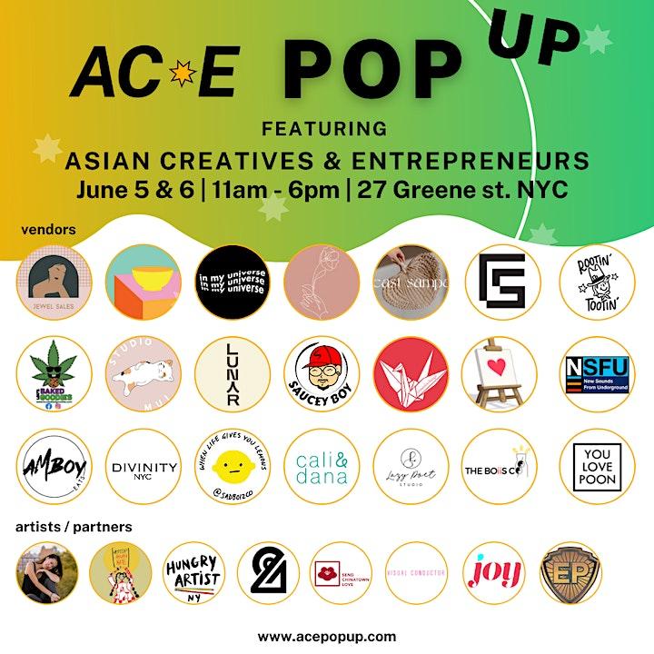 Asian Creatives & Entrepreneurs (ACE) Pop-Up Event image