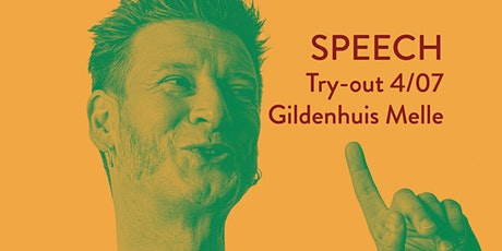 (10/07) Wouter Deprez - Try-out Speech billets