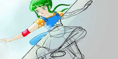 Disegno manga in digitale 12-15 anni - Corso breve - online - giugno 2021 biglietti