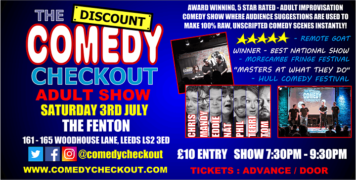 Comedy Night at The Fenton Leeds - Saturday 3rd July image