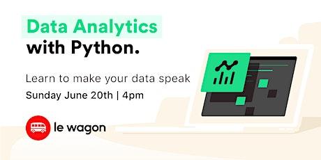 Data Analytics with Python tickets