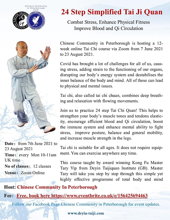 Tai Chi Lessons - Chinese Community in Peterborough image
