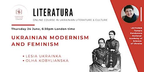 Ukrainian modernism and feminism    Online literature course tickets