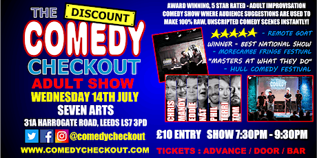 Comedy Night at Seven Arts Leeds - Wednesday 14th July tickets