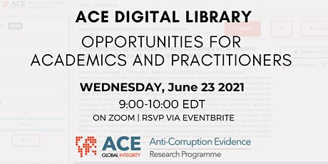 Launch of the ACE Digital Library Tickets