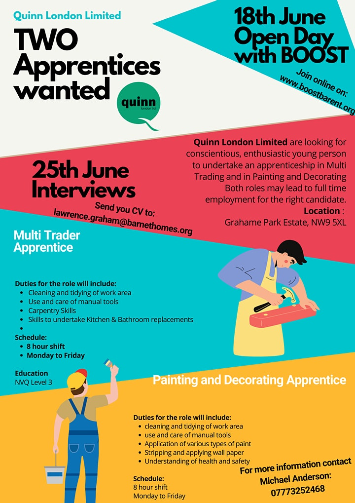 Open Day - four apprenticeship opportunities image
