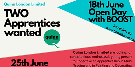 Open Day - four apprenticeship opportunities tickets