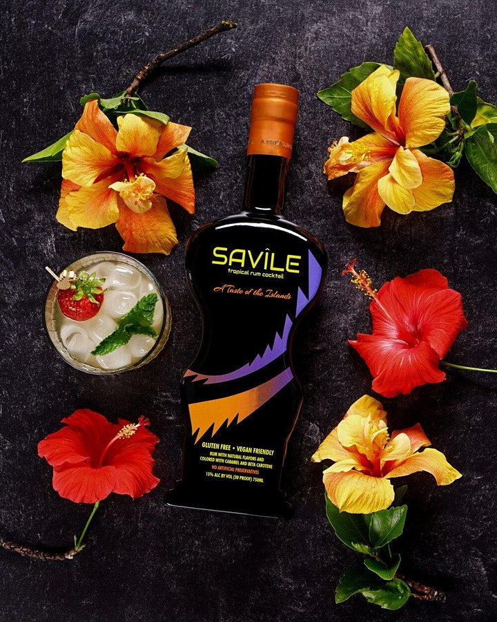 #FREEsips w/ Savile Tropical Rum Ready-To-Drink Cocktail image