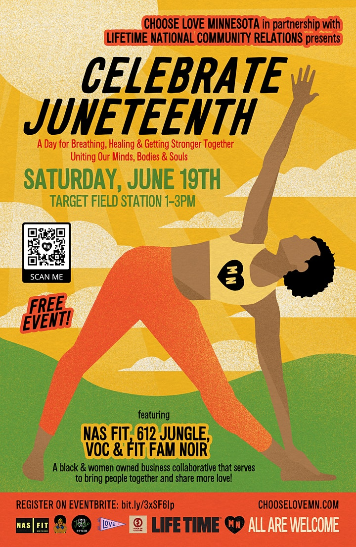 Celebrate JUNETEENTH with CHOOSE LOVE MINNESOTA  and LIFETIME image