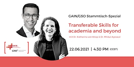Stammtisch-Spezial: Transferable Skills for academia and beyond Tickets