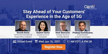 Stay Ahead of Your Customers' Experience in the Age of 5G biglietti