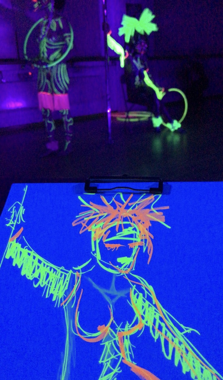 Neon | Life drawing image