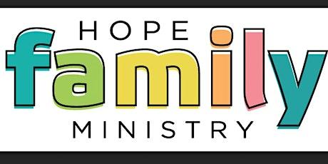 HOPE Kids and Nursery tickets