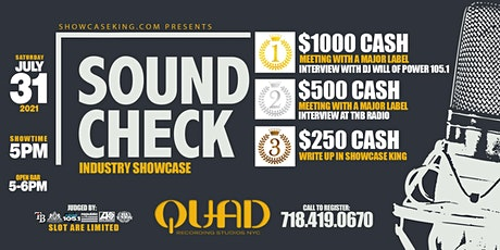 SOUND CHECK INDUSTRY SHOWCASE tickets