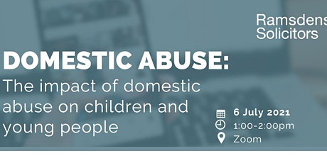 Domestic Abuse: The impact on children and young people tickets