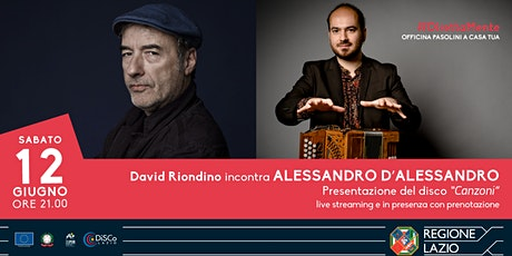David Riondino incontra Alessandro D'Alessandro biglietti