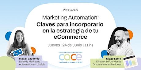 Webinar CACE - Marketing Automation entradas