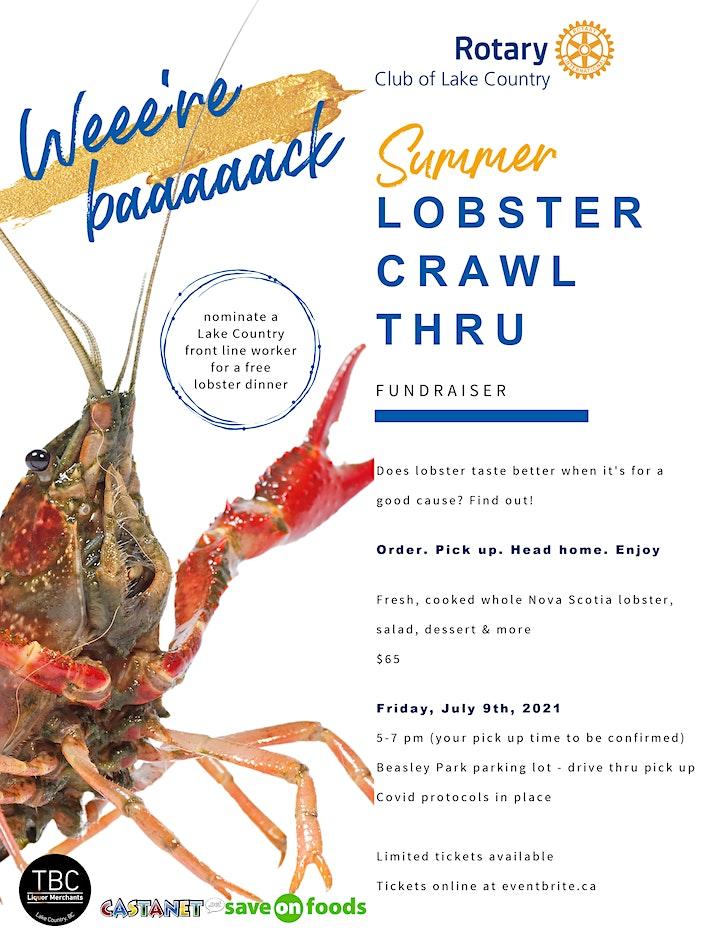 Summer Lobster Crawl Thru Fundraiser image