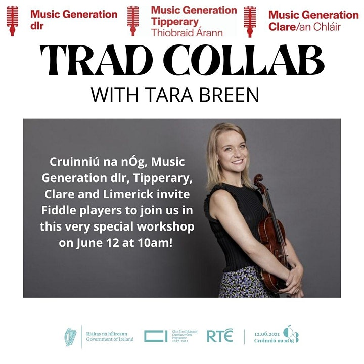 Trad Collab: Music Generation dlr, Tipperary and Clare with  Tara Breen image
