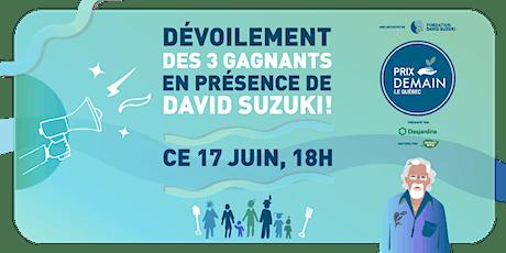 Prix Demain : remise des prix avec David Suzuki + Les Cowboys Fringants! tickets