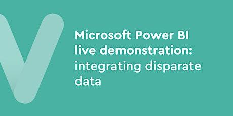 FREE Microsoft Power BI live demonstration: integrating disparate data tickets