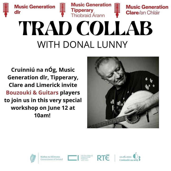 Trad Collab: Music Generation dlr, Tipperary and Clare with  Donal Lunny image