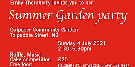 Islington South Summer garden party tickets