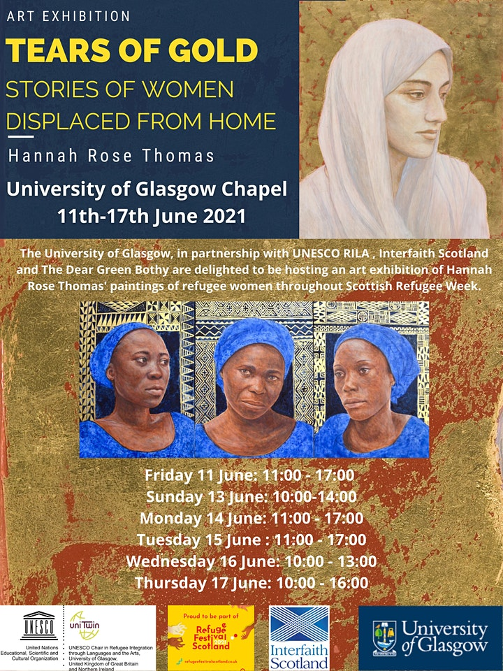 Exhibition launch: Tears of Gold - Stories of Women Displaced From Home image
