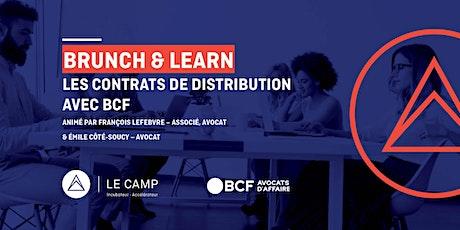 Brunch & Learn – Les contrats de distribution avec BCF billets