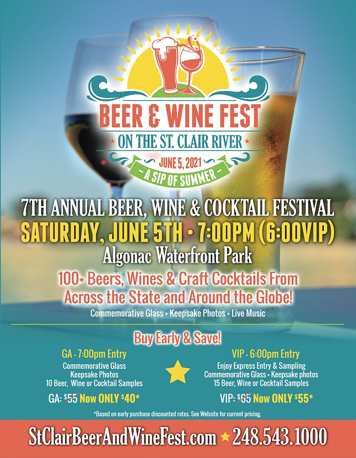 St. Clair Waterfront Beer, Wine, Cocktail & Seltzer Festival 2021 image