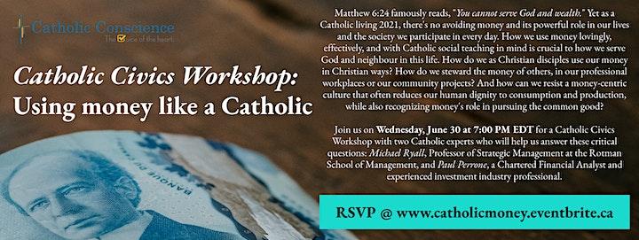 Using money like a Catholic: A Catholic Civics Workshop image