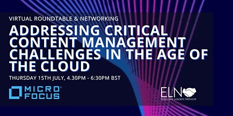 Virtual Roundtable - Addressing Critical Content Management Challenges tickets