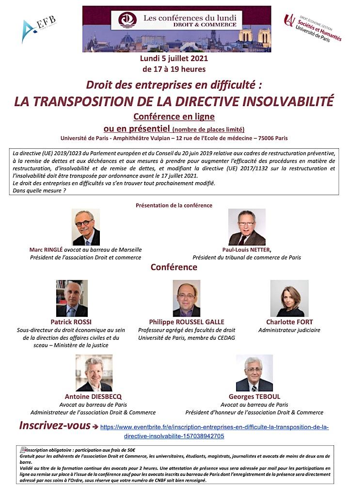 Image pour Entreprises en difficulté : La transposition de la Directive insolvabilité